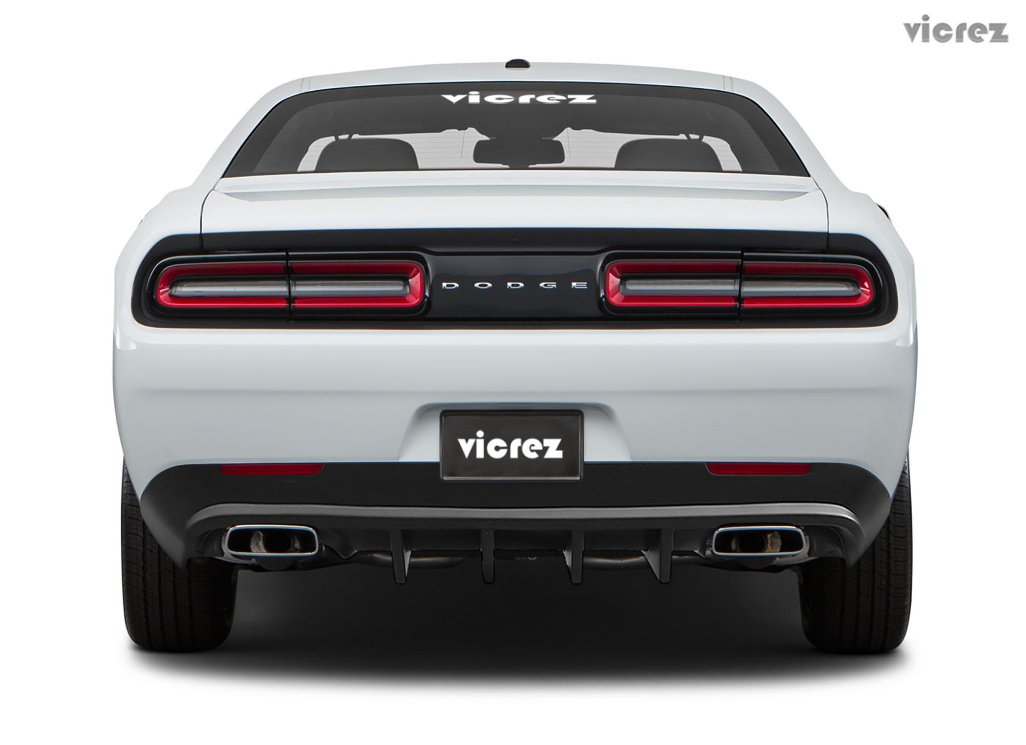 Vicrez V3R Style Rear Diffuser vz101701 | Dodge Challenger 2015-2019