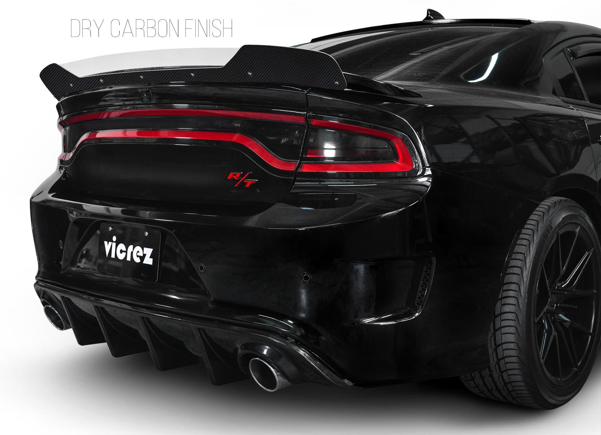 Vicrez Wicker Bill Add-on V3R Style vz101084 | Dodge Charger 2015-2020